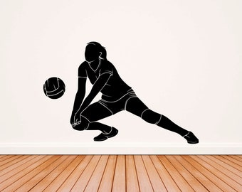 Male Volleyball Players Sports 3D Wall Art Sticker Mural Decal Poster GD8
