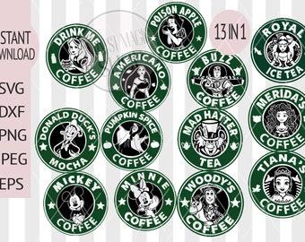 Disney Coffee Svg Etsy