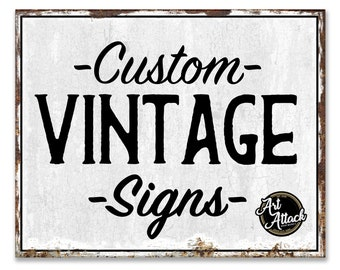 15 x 12 Custom Vintage Signs  | For Business Your Logo Your Text | For Home Decor Any Image  | Personalized Rustic Metal Wall Hanging