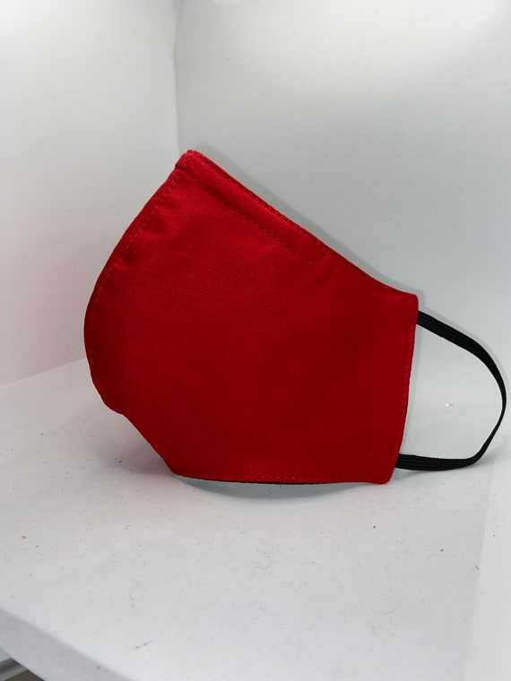 Bright Red 100% cotton washable face mask