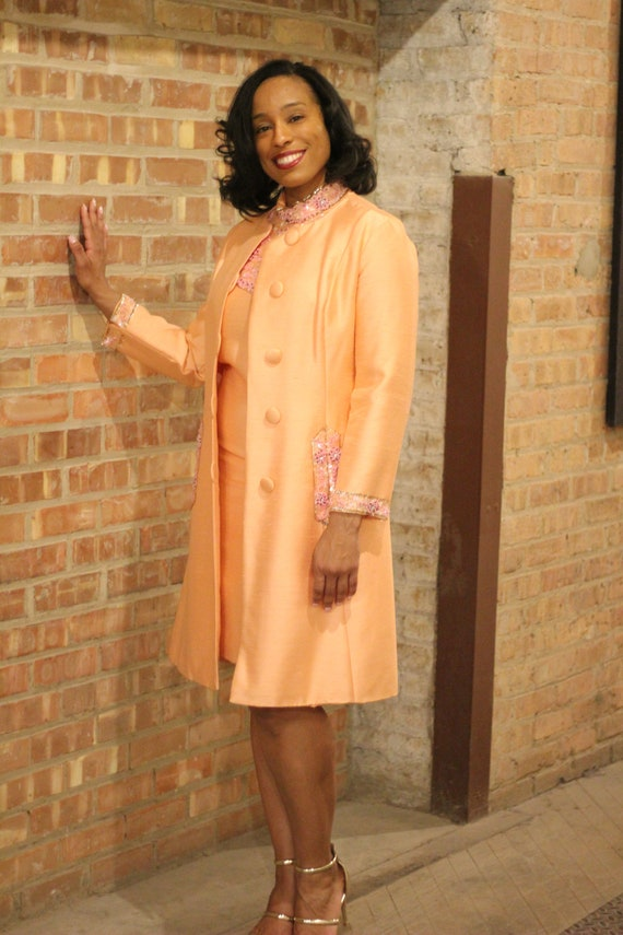 Vintage 80's 2 piece Suit accented with sequins