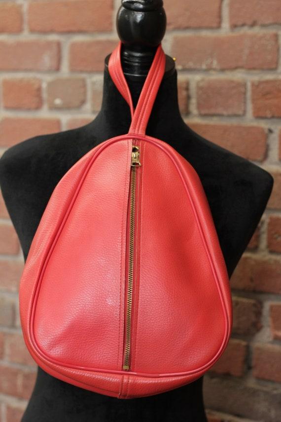 Vintage 70's Red Shoe Bag