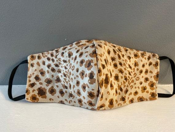 Leopard Print Cotton blend face mask