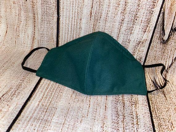 Emerald/Dark Green Cotton Face mask