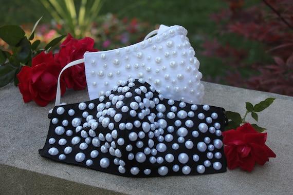Pearl Designer Cotton Face Mask