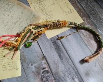 Brown Removable Dread wrap, Dread extension 54 cm   21 inch  long wrap Fantasy Hair wrap, Vegan dread wrap, Bohemian Hair, Fairy hair