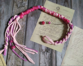 Pink lilac Removable Dread wrap, Witchy hair, Hair wrap, Dreadlocks accessorie, Boho hair