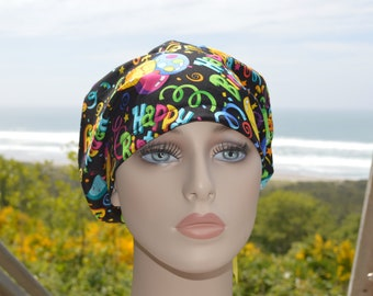 Happy Birthday Balloons Scrub Hat Surgical Hat Scrub Cap Surgical Cap for Women