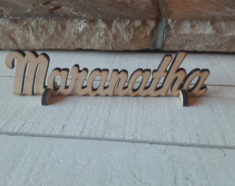 Maranatha centerpiece, Maranatha sign, Advent decoration, Come Lord Jesus  centerpiece, Come Lord Jesus sign, 1 Cor 16:22