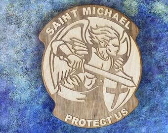 Saint Michael the Archangel coaster, St. Michael coaster, Saint Michael coaster, St Michael coaster, St. Michael the archangel coaster