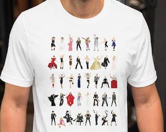 Madonna Illustrated Short-Sleeve Unisex T-Shirt, Icon Pop Art, Minimalist Art Print -  Queen of Pop Madge Madame X - Feminist LGBT Icon