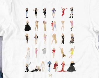 Mariah Carey Illustrated T-Shirt MC30 Pop Art  Minimalist Art Short-Sleeve Unisex