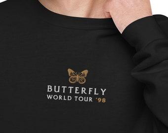 Mariah Carey Embroidered Butterfly World Tour Unisex fleece sweatshirt - Lambily Lambs Mariah Fan Gift Tour LGBTQ Pride Merch