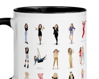 Mariah Carey Illustrated MC30 Mug with Color Inside - Minimalist Art - Pop Art