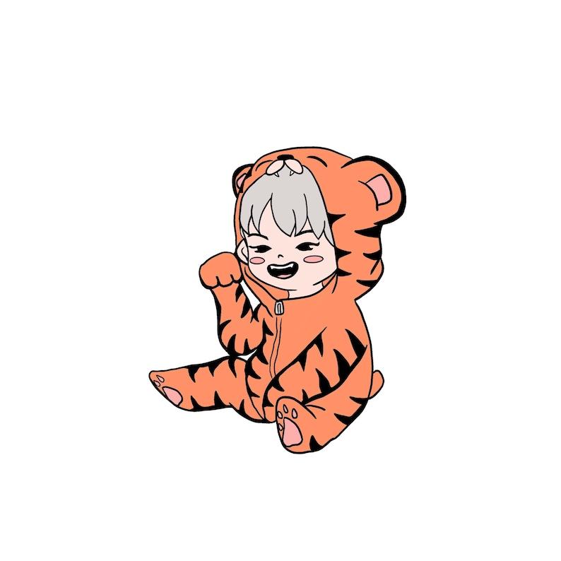 Hoshi the Tiger King Enamel Pin INSTOCK