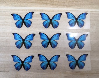 Small Blue Butterfly Heat Transfer Vinyl For Kid Shoes, Iron On Blue Butterfly Stickers For Shoes, Perfect Christmas Gift For Your Kids