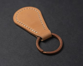 Custom Keychain, Leather Keychain, Personalized Leather Keychain, Gifts for Him, Anniversary Gift, Handmade in USA, Leather Goods, EDC Gear