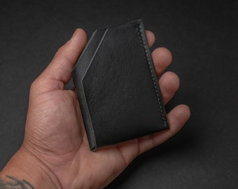 Minimalist Leather Wallet, Personalized Front Pocket Wallet, Leather Goods, Men's Cardholder, Handmade Leather Wallet, Gifts for boyfriend