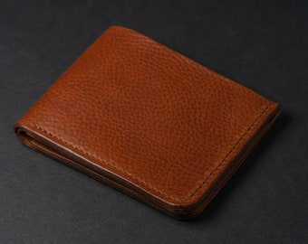 Leather Bifold Wallet, Personalized Leather Wallet, Handmade Leather Wallet, Christmas Gifts for Men, Made in USA, ID Holder, EDC Gear