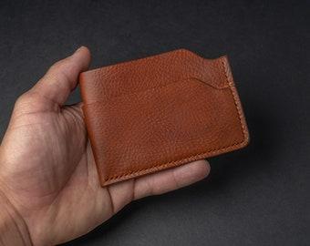Personalized Leather Wallet, Minimalist Wallet, Handmade Leather Wallet, Card Holder, Slim Wallet, Gifts For Men, Groomsmen Gifts, EDC Gear