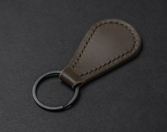 Leather Keychain, Personalized Keychain, Custom Leather Key Fob, Handmade in USA, Gifts for Him, Christmas Gifts, Leather Goods, Key Fob