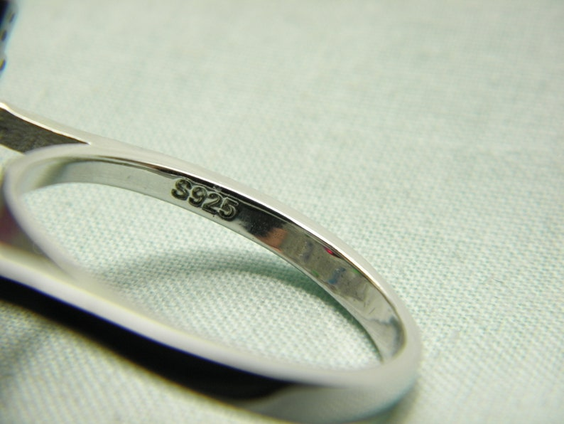 SALE Sterling Silver Ruby Diamond Cluster Ring Band Huge Statement Vintage Solid 925 Size U 10.25