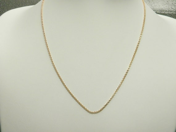 Vintage Gold Chain 18 inches 9ct Gold Twist Link Necklace
