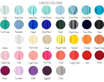 Color Chart - Infinity dresses