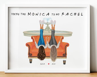 Friends TVShow Gift, Personalised Friends Theme Gift, Monica To My Rachel, Friends Sitcom Gift, Friends Inspired Gift, Printable Presents