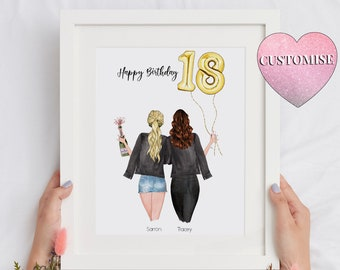 18th Birthday Gift-Fully Changeable Hairs And Clothes Best Friend Gift-Sister Gift-Personalised Just For You-18th Birthday Gift Girl