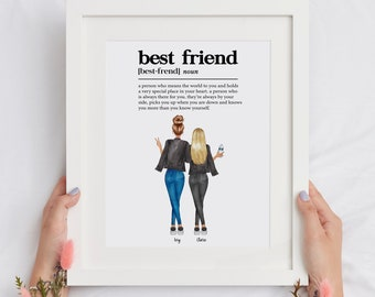 Best Friend Custom Print, Best Friend Print, Gifts For Best Friend Female, Long Distance Friendship, Best Friend Printable, Soul Sister Gift