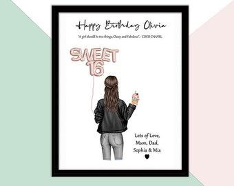 16th Birthday Gift Girl, Sweet Sixteen Gift, Sweet 16 Ideas, Gift For Teen Best Friend, Teen Best Friend Print, Bestfriend Teen Picture