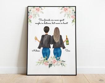 Best Friend Birthday Gift | Best Friend Gift | Personalized Gifts | Personalized | Best Friends Portrait | Best Friends Print | Sister Print