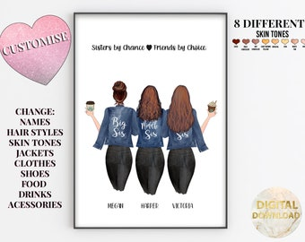 Birthday Present For Sister, Best Friend Printable, My Best Friend Sister Swag,  Best Friend Sister Gifts Personalised, Best Friend/Sister
