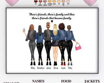 Customization Gifts For A Group of Friends, Group Of Friends Gifts, Best Friend Group Gifts, Gifts For A Group Of Women, Personalised