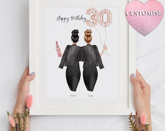 30th Birthday Gift For Her, Friend Present, Birthday Gift, Personalised Birthday Gift V2