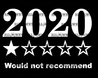 2020 One-Star Review SVG