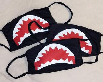 Shark teeth cotton facemask