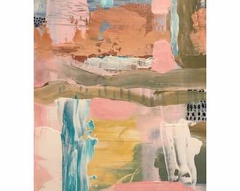Pink Abstract Original