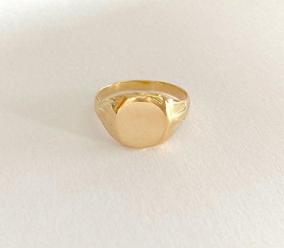 Vintage 18ct gold Art Deco signet ring, solid gold