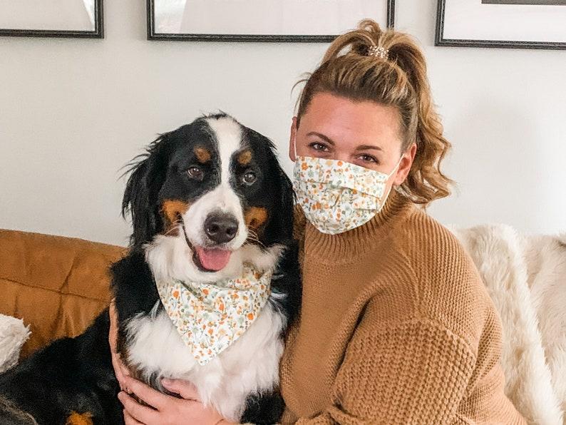 Matching mask and pet bandana (Set of 2)