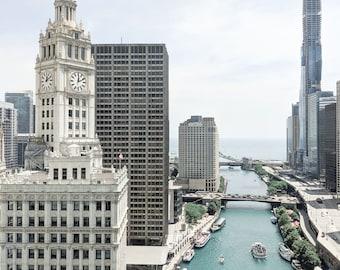 Chicago Photography- Chicago Vista - Architecture Fine Art Photograph, Lake Michigan, Urban Home Decor, Large Wall Art, Print, Chicago River
