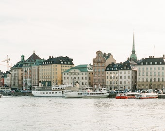 Stockholm Sweden Photography - From the Archipelago - Architecture, Fine Art Photograph, Stockholm, Sweden, Home Decor, Large Wall Art