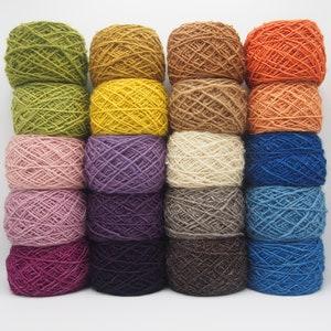 Sarda Sheep Wool Dyed with Natural Colors. 20 100g balls