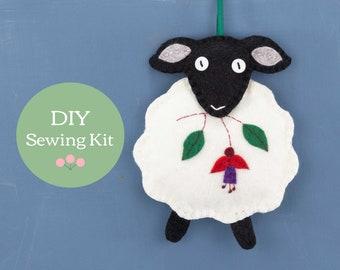 Dingle Sheep felt ornament sewing kit