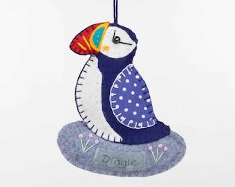 Dingle Puffin Felt Ornament