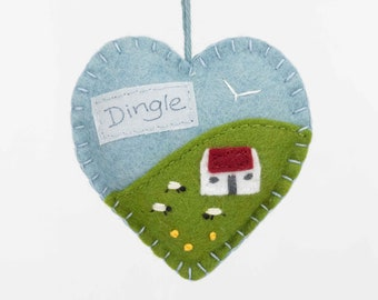 Irish cottage ornament, gift from Dingle