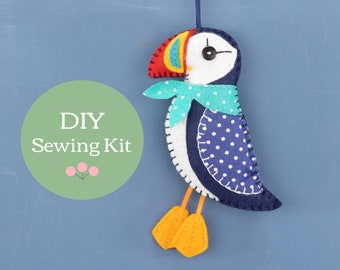 Dingle Puffin felt ornament sewing kit