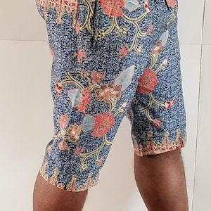men women and kids African unisex shorts with wax print  summer shorts; kitenge shorts in ankara style