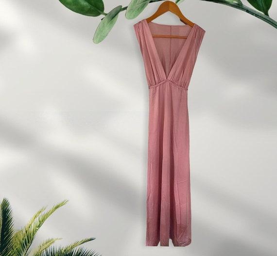 Vintage Vanity Fair Long Pink Slip Dress
